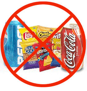 cibo spazzatura vietato
